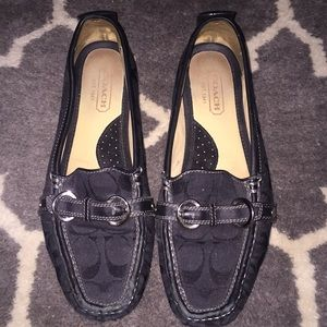 Black Coach driving loafers